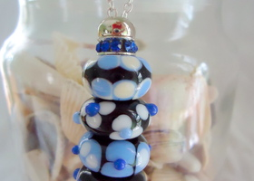 Hand made Italian glass beads with Interchangeable necklace