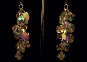 Swarovski Crystal Cluster Drop Earrings