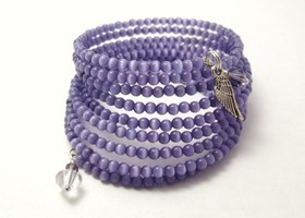 light purple memory wire wrap bracelet