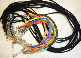 20 Mixed Leather Bracelets & Velvet Necklaces 20