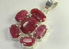 Amazing 52.41 carat Natural Ruby Pendant Sterling Silver