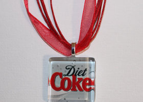 Diet Coke theme necklace