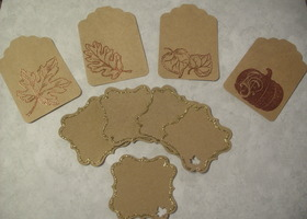 75 Elegant and Natural Embossed Autumn Tags