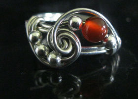 "Carnelian ""Success"" Sterling Silver Gemstone Ring"