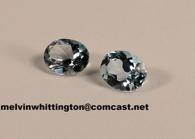 6.0 ct. TW Natural Blue Topaz Matching Pair
