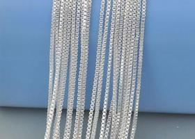 5 - .925 Silver box chain necklaces - 20""