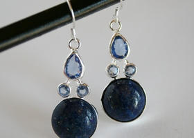Blue Topaz Sodalite Earrings