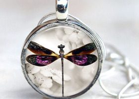 Dragonfly Floral Interchangeable Magnetic Necklace
