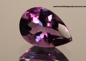 6.5 ct. TW Natural Amethyst Pear - Matching pair