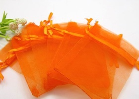 Twenty (20) Yellow and Orange Organza Bags