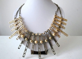 Cleopatra Inspired Bib Statement Necklace
