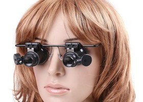 20x Jeweler Magnify Glasses Led light