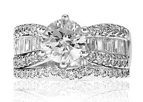 "2.25 Carat ""Diamond"" Wedding Set"