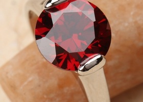 Large Garnet Ring, Size 8.5