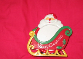 Set of 4 Christmas Coasters in Sleigh