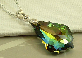 Swarovski Baroque Medium vitrail pendant necklace