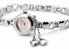 Quartz watch fashion heart-shaped bracelet watch 002