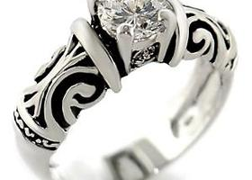 Sz 5 New Brilliant Round 1.25 CT Solitaire Ring