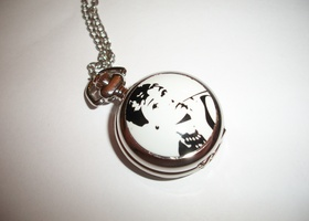 Audrey Hepburn Quartz Watch Necklace