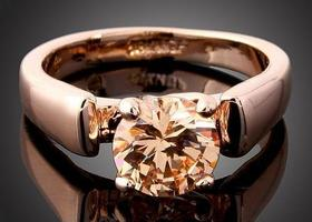 Elegant 18K Rose Gold Swarovski Crystal Ring Sizes 6,7,