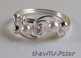 Swarovski Pearl Rings OR Custom Birthstone Rings