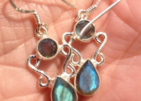 Gorgeous Labradorite Artisan Sterling Silver Earrings