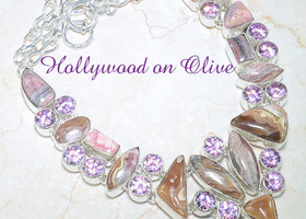 Beautiful Rhodochosite Pink Topaz Necklace