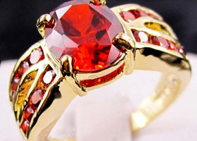 Gorgeous ruby 10KT WGF Ring SZ8