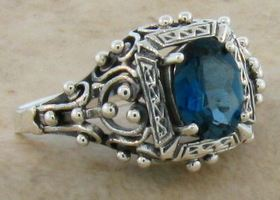 London Blue Topaz .925 Sterling Silver Ring Sizes 5-10