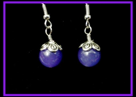 Lavender Quartzite earrings