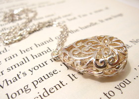 Silver plated Filgree locket