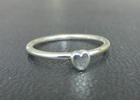 Tiny Sweet Heart Stacking Ring