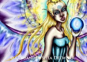 """Aene's Light"" Fantasy Faery Oracle Art Print 8.5x11"