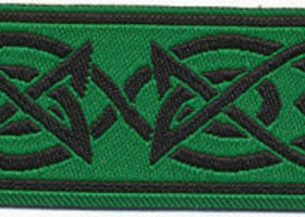 Celtic Knot Metallic Ribbon~Green