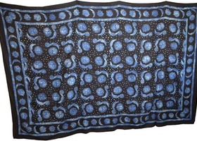 Celestial Sun Moon Blanket Tapestry Huge 72 x 108