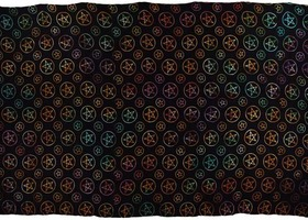 Pentagram Night Huge Tapestry Blanket 72 x 108