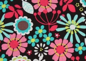 Michael Miller - Lazy Daisy in Cocoa  fabric 1/2 yard