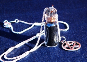 Sterling & Black Salt Handmade Spell Bottle