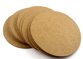 100 Round 2 Inch Circles Blank Brown Kraft Cardstock Paper - Scrapbooking - Embellishments - Favors Tags - Labels