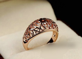 Beautiful rose gold filled filigree ring