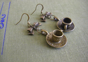 Coffee Cup Earrings -vintage inspired