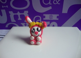 Rabit Charm (Polymer Clay) + 1 other item from my etsy shop