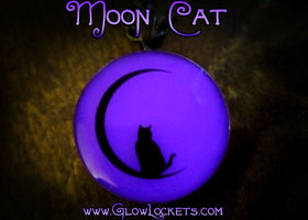Moon Cat Glow Kitty Pendant