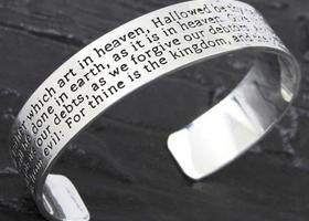 The Lord's Prayer Inscribed Bangle