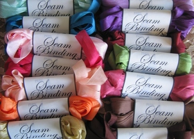 50 Yards Of Seam Binding Ribbon 10 Colors