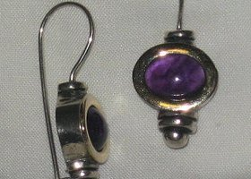 Genuine Beautiful Amethyst Earrings
