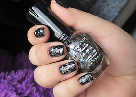 KleanColor Black Out Sparkle Nail Polish