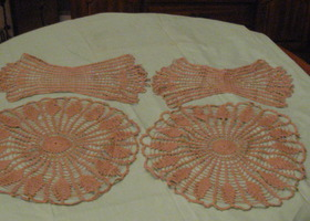 Vintage Tan Doilies Set of 4
