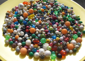 Large Lot of Mixed Beads - Bead Soup - Almost 1 Pound!