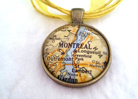Custom Vintage Map Jewelry - Choose your Location